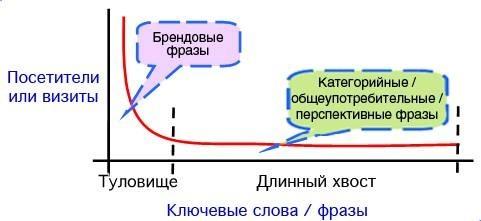 Веб аналитика: Насколько у вас мощное туловище и насколько длинный хвост?